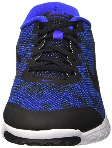 Nike Flex Experience Rn 4 Prem, Chaussures de Running Compétition Homme Multicolore - mehrfarbig (Black/Racer Blue-White)