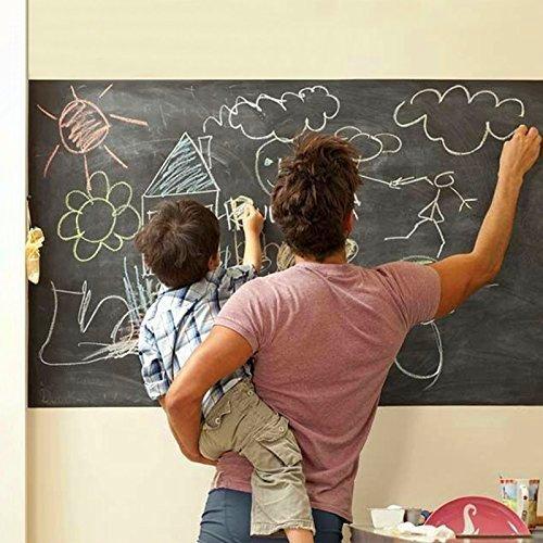 Preisvergleich Produktbild MFEIR® Tafelfolie Selbstklebend Wandtattoo kinderzimmer schwarze Tafel Aufkleber Aufklappbar Aufkleber 45 x 200cm