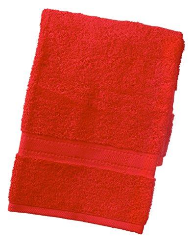 TowelsRus egipcio 100% algodón súper suave 550 gsm toalla de mano en rojo