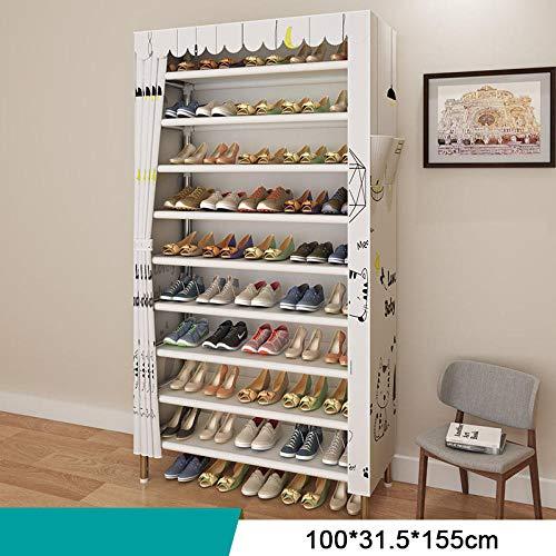 SHOESBENS Zapatero Tela Armario   Bricolaje Dormitorio Hall Entrada Almacenamiento De Zapatos Tipo Combinado...