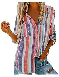... estrellas 2 · ❤ Blusa Mujeres Raya,Camiseta con Estampado de Manga Larga, Blusa sin Mangas