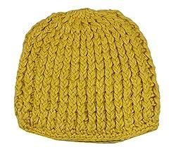 Romano Womens Beatiful Look Yellow Warm Winter Wool Cap