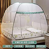 mayihang Moskitonetz Mongolei Tasche Moskitonetz 1,8 m Bett Doppelbett unten Familie 1,5 m GRATIS Installation von drei Tür Studenten die Schlafsaal 1,2 Meter Princess Wind, Full – -3s Speed – Proof Bett – Limonade, 1,8 * 2.2 m Bett