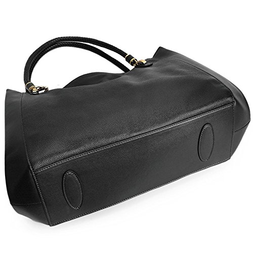 Rosa CLUCI 7 Mädchen Schwarz Ledertasche Handtasche Rot Schultertasche Klein Damen Umhängetasche fwrq0n5fz