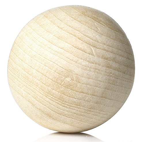 Sadingo Holzkugeln zum basteln ohne Loch (10 STK. 30 mm) - Große Holzperlen zum bemalen - Wooden Beads for Crafts