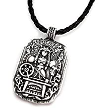 Miss – E – joyas – plateado envejecido para Viking Mujer Diosa colgante collar suéter para