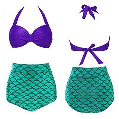 Vandot Un Pezzo Bikini da donna Sexy Costumi da bagno bikini push-up Cinghia da vita alta Slim Fit Top Bottom Set bagno Beachwear, S Design 1