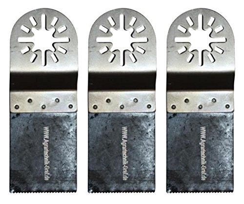 Agrartechnik-Graf Bi-Metall Sägeblatt 34 mm für Holz, Plastik und Metalle 3er Set für Fein Multimaster