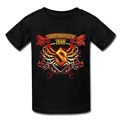 Big Boys'/Girls' Sabaton Album Art T-Shirt - BlackYILIAX10499Large