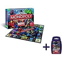 Monopoly Marvel Universe Edition Brettspiel - mit Marvel Universe Top Trumps