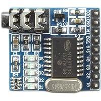 Morza MT8870 DTMF decodificador de Voz Juntas módulo telefónico de Voz de Audio de teléfono Módulo de descodificación 5 Indicador LED DC 5V