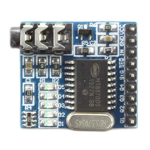 Morza MT8870 DTMF Sprach Decoder-Modul Boards Telefon Audio Telefon Sprachdekodierung Modul 5 LED-Anzeige DC 5V -