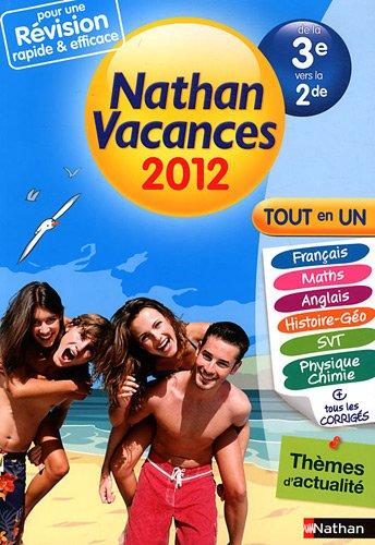 Nathan vacances Tout en un de la 3e vers la 2de