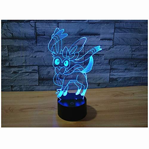 LED ZNZ Illusion Lumière Lumineuse Salle des Enfants De Bande Dessinée Anime Petite Lampe De Table USB Charge Toucher Sept Couleurs Night Light (8-15),014
