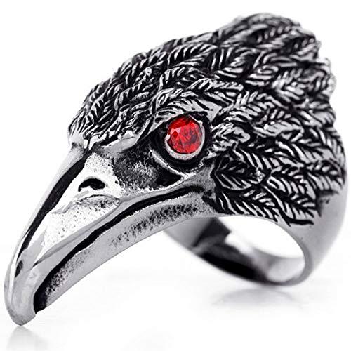 OIDEA Edelstahl Falke Adler Ring für Männer, Herren Biker Engagement Ehering Schwarz Silber Ringgrößen 71 (22.6) (59 (18.8)) (Männer Silber Und Schwarz Ehering)