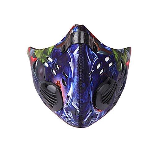 Blueidea® Equitazione Respiratore Antivento Antipolvere Maschera carbone Attivo Maschera di Protezione Mezza Filtro Anti-Haze PM2.5 (Stile Protezione Di Gas)