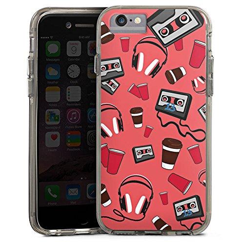 Apple iPhone X Bumper Hülle Bumper Case Glitzer Hülle 13 Reasons Serie Kassette Bumper Case transparent grau