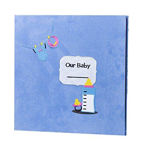 Hoopoo il panno rivestito bambino ricamata autoadesivo crescere fai da te manuale/bambino album crescere/diario di gravidanza (32 * 33 * 3 cm) (color : b1)