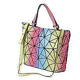 NOBIE, Damenhandtasche, Umhängetasche, Einkaufstasche, Regenbogenfarbe, Faltbare Handtasche, Leicht Zu Tragen