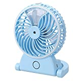 #8: VARSHINE Premium Mini Portable Mist Fan || Air Conditioner Water Mist Fan ||Portable USB Rechargeable Cooling Fan || Water Fogger Fan || Lithium Battery Laptop Car Air Cooling Fan || 4 inch || A-02