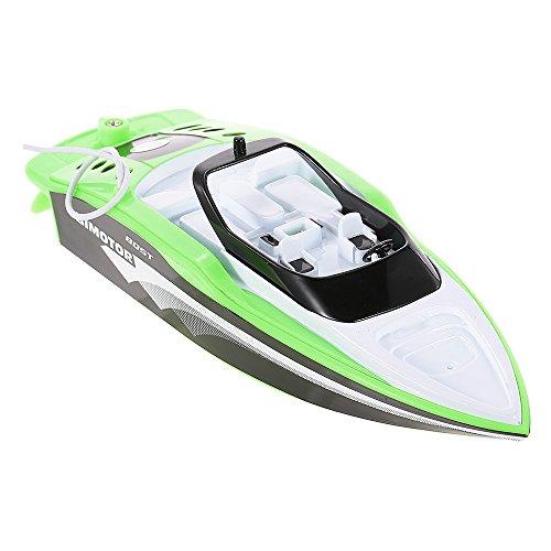 Goolsky Crea Toys Remote Speedboat 3392M Mini Radio Control Elettrico RC Racing Boat RTR (verde)
