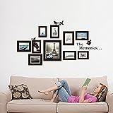 Missley Large Family Tree Wall Decal facile à installer et à appliquer décoration de décor mural pour la décoration de stencil de chambre à coucher, DIY Galerie de photos Sticker