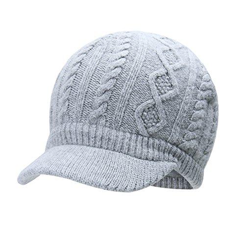 44674b3c567 Vivobiniya Kids Winter Knit Visor Hat Baby Girl Knitted Beanie Cap 1-8years  Old (