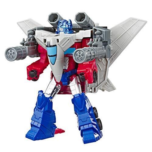 Transformers E4328ES0 Toys Cyberverse Spark Armour Optimus Prime Action Figure, Multicolour