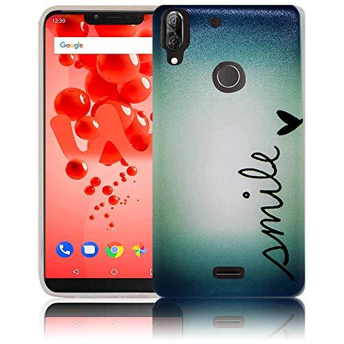 thematys Passend für Wiko View 2 Plus Smile Handy-Hülle Silikon - staubdicht stoßfest & leicht - Smartphone-Case