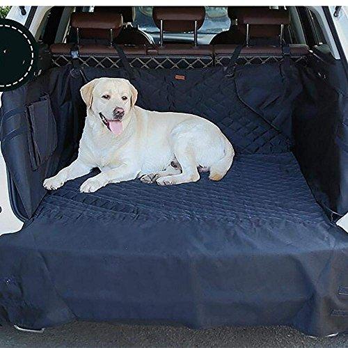 RES&ZT Auto Boot Liner, Heavy Duty Universal Wasserdichte Auto Boot Liner Haustier Hund Sitzbezug Matte Auto Zurück Seat Protector Hängematte,Black (Universal-boot-sitzbezug)