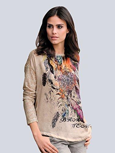 Alba Moda Rural Damen Shirt mit Federprint