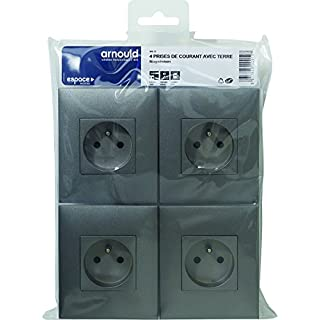 Arnould arn96012Pack of 4Sockets with Earth Space Evolution Magnesium