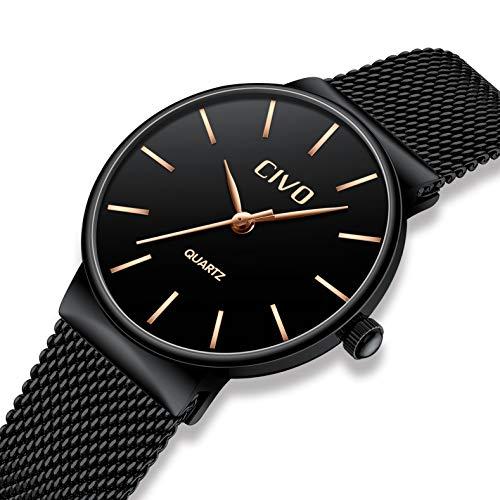 ff628149430a CIVO Relojes para Mujer Reloj Damas de Malla Impermeable Silm ...