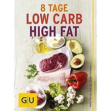 Acht Tage Low Carb High Fat für Einsteiger: Ernährungsplan und Rezepte für den LCHF-Start (GU Ratgeber Gesundheit)