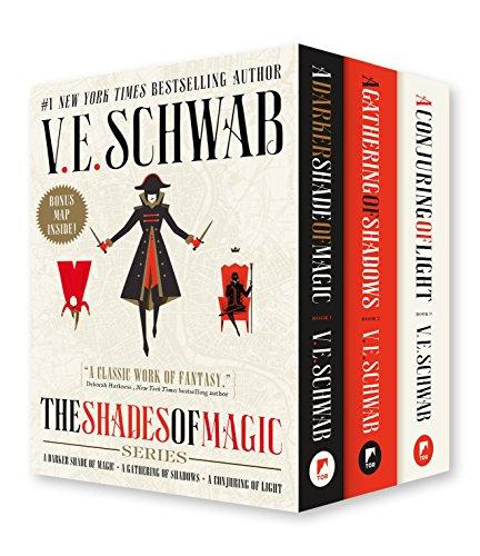 Shades of Magic Boxed Set: A Darker Shade of Magic, a Gathering of Shadows, a Conjuring of Light (International Edition) por V. E. Schwab