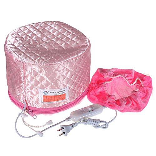 Casque Vapeur Cheveux Electrique LuckyFine Thermique Steamer SPA Soins des Cheveux Nourrissante Traitement Bonnet Couleur Aléatoire