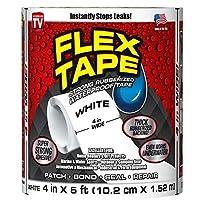 """Flex Tape Rubberized Waterproof Tape, 4"""" x 5', Clear"""
