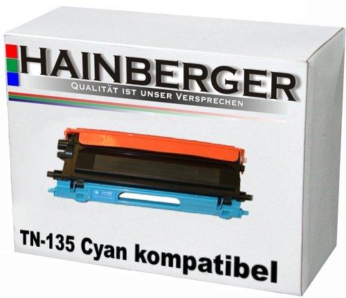 Preisvergleich Produktbild Hainberger Toner für Brother TN135 Cyan HL-4040CN HL-4050CDN HL-4050CDNLT HL-4070CDW DCP-9040CN DCP-9042CDN DCP-9045CDN MFC-9440CN MFC-9450CDN MFC-9840CDW