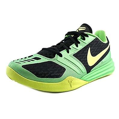 Nike Kobe Mentality Mens Basketball Shoes 704942-001 Black Poison Green-Volt 10 M US