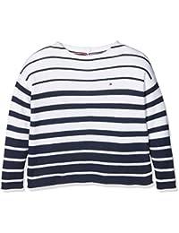 Tommy Hilfiger Stripe Sweater L/S, Suéter para Niñas