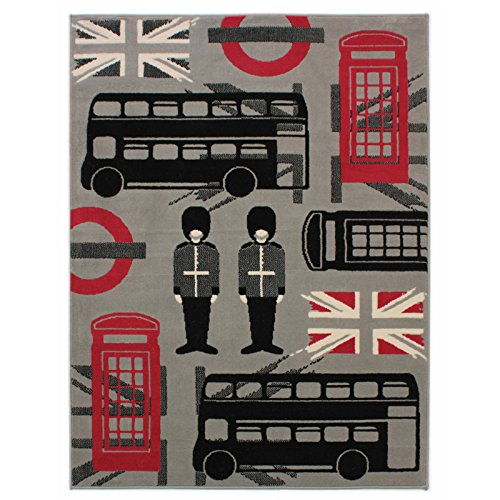 tappeto-a-forma-di-londra-con-union-jack-red-bus-motivo-cabina-telefonica-colore-nero-polipropilene-