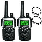 10Km Binatone Action 1100 Walkie-Talkie Lizenzfreie 2 Zwei Way PMR Radio + Comtech CM-115TH VOX/PTT...