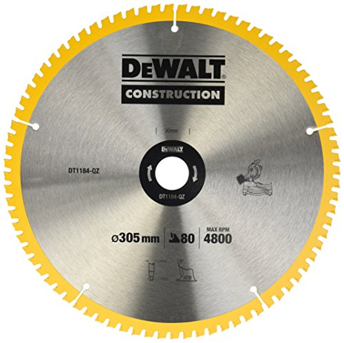 DeWalt DT1184-QZ Bau Kreissägeblatt Stationaer 305x30x2.41 80WZ 7°