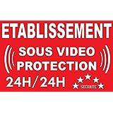 Panneau établissement sous vidéo protection 24/24