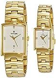 Titan Bandhan Analog White Dial Couple Watch, 19402940YM01