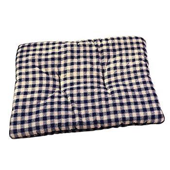 Vommpe Matelas pour Animal Domestique Extra Doux et Confortable Lavable pour Chien, Plusieurs Tailles en Coton et Lin.