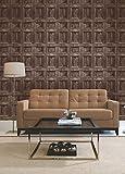 Brewster FD31055 Wood Panel Wallpaper - Chocolate