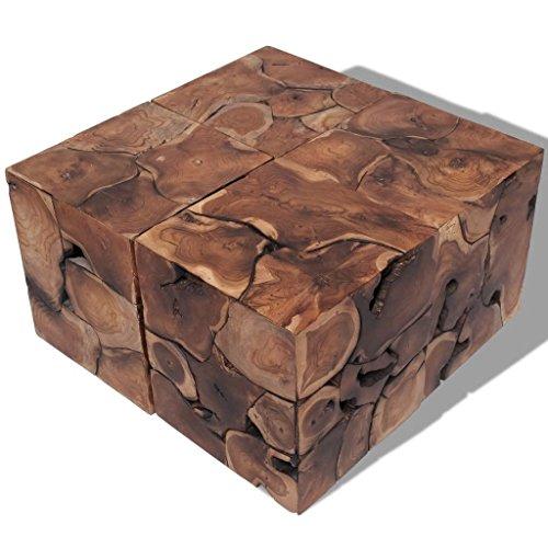 Luckyfu Dieser Barhocker/Beistelltisch aus Massivholz von Tek 4 STK Der Hocker ist leicht und leicht...