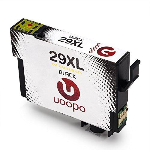 Uoopo 29 29XL 3 Schwarz Kompatible Druckerpatronen für Epson 29XL, Multipack patronen für Epson Expression Home XP-332 XP-235 XP-335 XP-432 XP-435 XP-442 XP-445 XP-342 XP-345 XP-245 XP-247 Drucker.