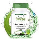 Grüner Tee Extrakt - 90 Kapseln - HOCHDOSIERT - 750mg pro Kapsel - entkoffeiniert - 98% Polyphenole & 50% EGCG - VEGAN